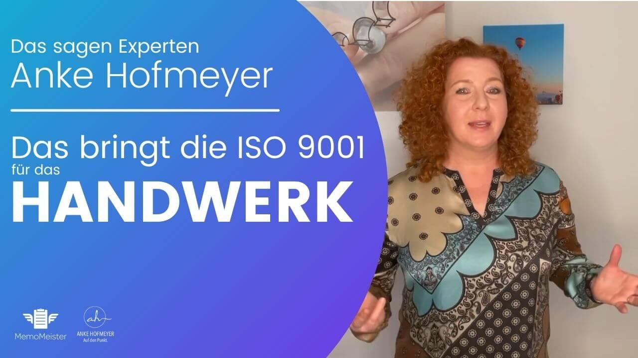 ISO 9001 Experting erklärt, warum QM für Handwerker wichtig sein kann.