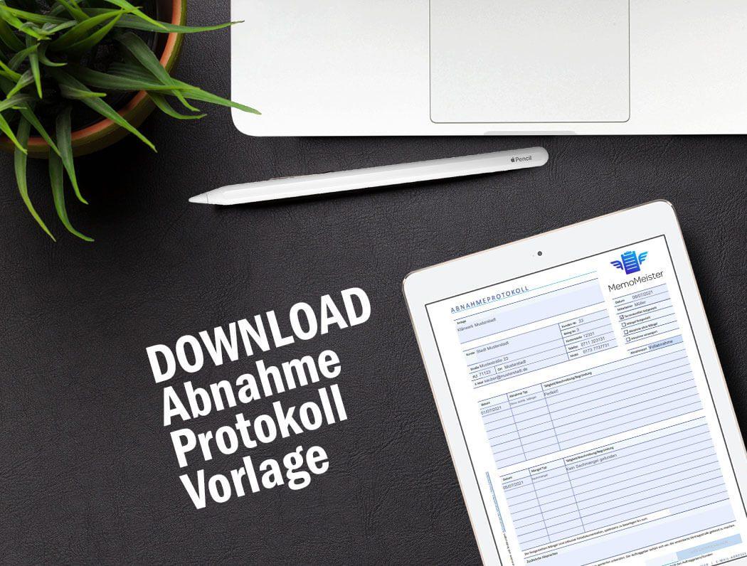 Abnahmeprotokoll Bauleistungen Direkter Download der digitalen ...